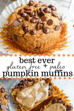 These paleo pumpkin muffins are the best ever almond flour pumpkin muffins you'll ever have! Healthy easy to make and made with low carb ingredients! Paleo Pumpkin Recipes, Paleo Pumpkin Muffins, Paleo Banana Bread, Pureed Food Recipes, Healthy Muffins, Paleo Recipes, Paleo Meals, Healthy Pumpkin Desserts, Gluten Free Pumpkin Bread