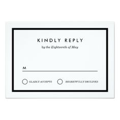 Minimalist Wedding RSVP Card