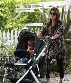Kourtney Kardashian Pregnant takes Baby Mason Disick to Farmer's Market