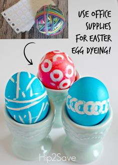 Dye Easter Eggs with Rubberbands