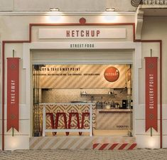 Cafe Shop Design, Restaurant Interior Design, Store Design, Food Stall Design, Food Truck Design, Food Court Design, Resto Paris, Small Restaurant Design, Cafe Restaurant