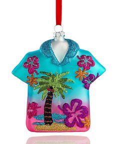 Holiday Lane Christmas Ornament, Hawaiian Shirt - Holiday Lane - Macy's