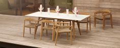 Gloster Dansk table and chairs