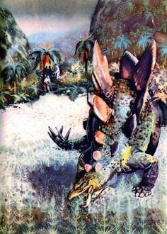 Stegosaurus by Zdeněk Burian.