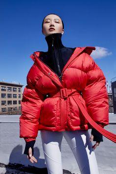 Ienki Ienki // michelin belted puffer jacket