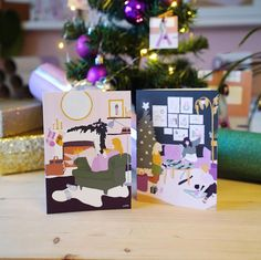 Have you received any Christmas postcards this year? Daisy Art, Christmas Postcards, Holiday Cards, Lisa, Gift Wrapping, Insta Posts, Illustration, Gifts, Instagram