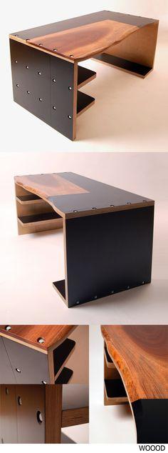 Table. Woood by Viktor Puzur, via Behance