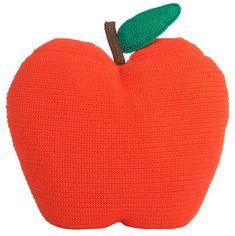 Coussin Apple en crochet Mandarine - Anne-Claire Petit