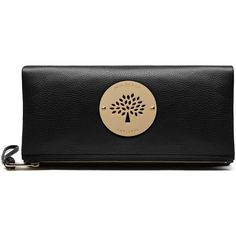 Mulberry Daria Clutch (1 135 AUD) ❤ liked on Polyvore featuring bags, handbags, clutches, black, laser cut leather purse, black leather purse, black leather clutches, black purse and laser cut handbag