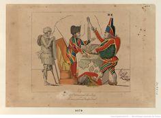 «Le Carnaval de 1814, ou Le macaroni Impérial.» En ces jours de folie, Napoléon et Cambacérès se sont costumés, l'un en Arlequin, l'autre en Polichinelle : [estampe]