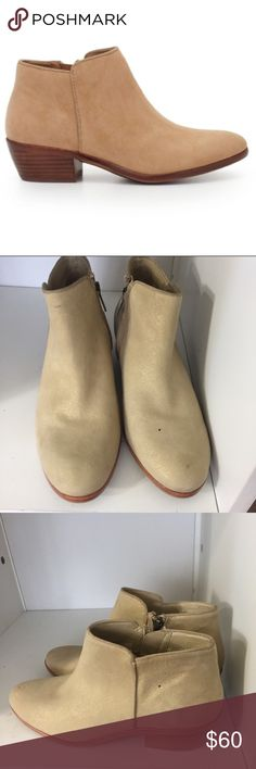 Suede gold simmering booties Great condition no flaw no trade. I will take offer Sam Edelman Shoes Ankle Boots & Booties