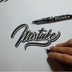 Submit your work to us by using the hashtag #brushtype and tagging @brush_type in your posts. You must be following the account for reposts. ------------------------------------------------- Mistake by: @riskarbi #brushtype ------------------------------------------------- #type #typography #design #creative #handstyle #goodtype #lettering #handlettering #thedailytype #typematters #thedesigntip #logo #logodesign #dailytype #customtype #handtype #ilovetypography #typespire #brushtype…