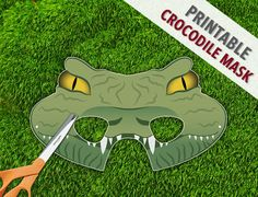 Crocodile Mask  Reptile Party Mask  Lizard Lion by theRasilisk