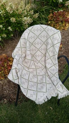 """Siesta - Lap BlanketFinished approximately 46"""" x 48"""" (Needs 1 1/2 yards of fabric) Intermediate pattern and works up quickly."""