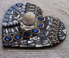 Mosaic Heart - Blue -https://www.facebook.com/groups/TayamaCrafts/