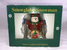 Snowglobe Snowman Skiing Christmas Decor Collectible Gift  | Collectibles, Holiday & Seasonal, Christmas: Current (1991-Now) | eBay!