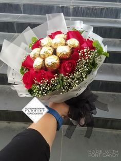 Please do not hesitate to whatsapp me if you require further information Surprise Delivery Penang Kedah Kl Whatsapp No : Chocolate Flowers Bouquet, Chocolate Roses, Chocolate Gifts, Diy Bouquet, Candy Bouquet, Balloon Bouquet, Cute Birthday Gift, 50th Birthday Gifts, Fruit Flower Basket