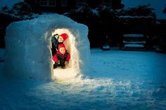 reminds me of when my dad made an igloo for me and my brother Winter Is Here, Winter Fun, Winter Snow, Winter Ideas, Winter Time, The Neighbor, Snow Activities, Snow Fun, Winter Scenery