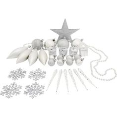 Pack of 75 Assorted Silver Decorations at Homebase -- Be inspired and make your house a home. Buy now.