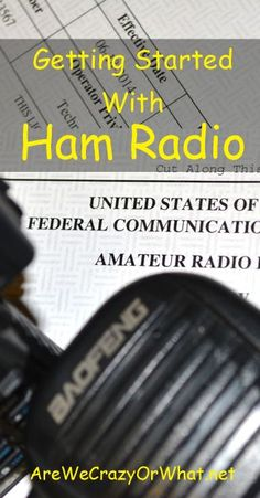 The basics of taking your Ham radio exam and buying your first radio. I have my license and radio. It is the best form of communication when all else fails Survival Prepping, Emergency Preparedness, Survival Stuff, Radios, Ham Radio License, Ham Radio Operator, Law Enforcement Jobs, Tutorial, Just In Case