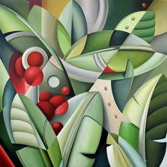 Catherine Abel - Un toque Art Deco ~ Enkaustikos Cubist Paintings, Cubist Art, Abstract Art, Art Deco Paintings, Art Deco Illustration, Pinturas Art Deco, Art Deco Decor, Art Africain, Arte Pop