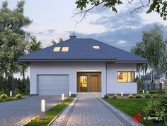 E-188 - E-DOMY.pl Projekty domów jednorodzinnych, piętrowych, energooszczędnych.