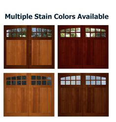 Shop for wooden overhead garage doors with immediate delivery. Overhead Garage Door, Wood Garage Doors, Painted Doors, Stain Colors, Exterior Doors, Outdoor Decor, Home Decor, Wooden Garage Doors, Painted Front Doors