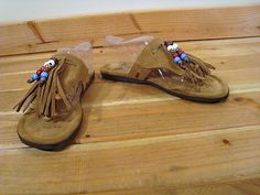 Penny Loves Kenny Tan Suede Thong Flat Sandals Arroyo Beads Fringe 6 5 Moccasin | eBay
