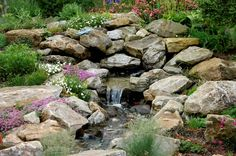 Small Yard Water Features | Over time, the maturing garden softens the appearance of the accent ...