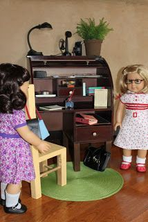 "MADE: Pieces For Reese: 18"" Doll: RECYCLE - Roll Top Desk"