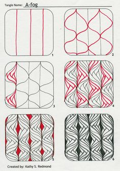 zentangle patterns | Fog pattern for zentangling.