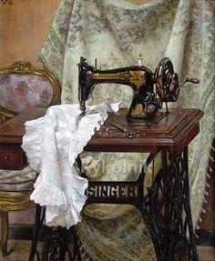 Resultado de imagen de maquina de coser viejita