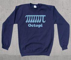 Octopi Funny Math Crewneck Sweatshirt by wopbobalubob on Etsy, $26.00