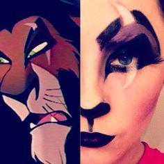 scar lion king makeup - Google Search