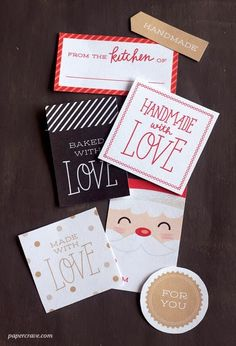 Harris Sisters GirlTalk: Free Printables for Handmade Christmas Gifts Gift Tag