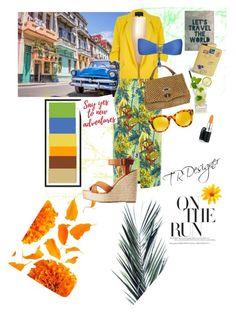 """Say Hello to Cuba #Trend #Fashion #beautiful"" by tr-17 on Polyvore featuring River Island, Luli Fama, Oasis, Zanellato, Trademark Fine Art, Vera Bradley, Fendi, Charlotte Russe and MAC Cosmetics"