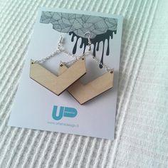 Uhana design finnish design wood earrings Wood Earrings, Winter Garden, Wood Design, Designer Dresses, Notebook, Instagram Posts, Holiday, Green, Jewelry