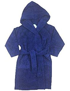 6 EFY Childs Hooded Bath Robe with a POKEMON Logo and Name of your choice in Royal Blue 4 10 or 12 Ages 2 8 Age 2