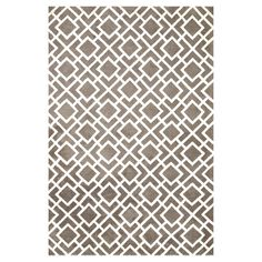 Adorned with a chic geometric motif, this eye-catching rug brings visual interest to your master suite.