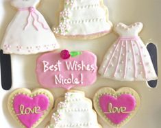 It's a Girl Baby Shower Cookies di FlourDeLisShop su Etsy