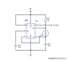 analog to digital converter circuit using adc gadgetronicx light to frequency converter circuit using simple light dependent resistor ldr and ic 555 timer wired