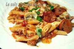 Le coin recettes de Jos: ONE POT PASTA PIZZA-très bon (pas ajouter les saucisses italiennes)
