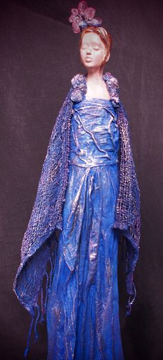 Most of the sculptures shown are completed using a textile hardener, Powertex. Refer to the Powertex page for product information. Paper Dolls, Art Dolls, Fabulous Four, Faeries, Sculpting, Attitude, Textiles, Inspiration, Dresses