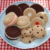 Knitting & Crochet Pattern for a Selection of Biscuits, Cookies - Toy Food