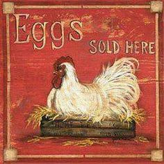 One of the most important reasons why people keep chickens is to have a regular supply of delicious farm fresh eggs. Country Farm, Country Life, Country Girls, Country Bumpkin, Country Living, Country Roads, Chicken Signs, Chicken Art, Chicken Houses