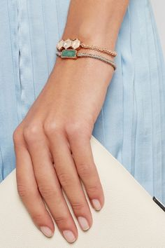 Brooke Gregson|Sterling silver chalcedony bracelet|NET-A-PORTER.COM