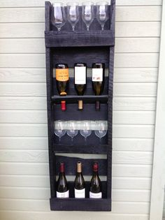 4 tier reclaimed wood wine rack