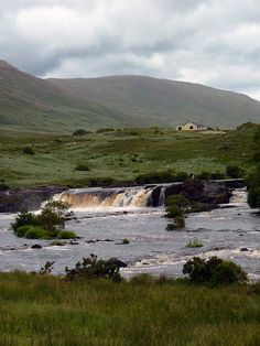 Falls on the Bundorragha River, Co. Mayo, Ireland by kimhollingshead, via Flickr