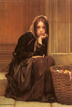 "Guillaume Charles Brun, ""A Basket of Ribbons"".  Art Renewal says Christen Brun, but Artnet says Guillaume Charles Brun . . . I trust Artnet more, but I don't know.  It's very like other paintings by Guillaume Charles--all of which I love.  The faces are so expressive . . ."
