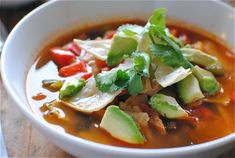 Pioneer Woman Chicken Tortilla Soup, on the stove right now and it's